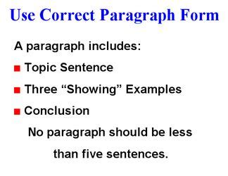 Difference between topic sentence thesis statement